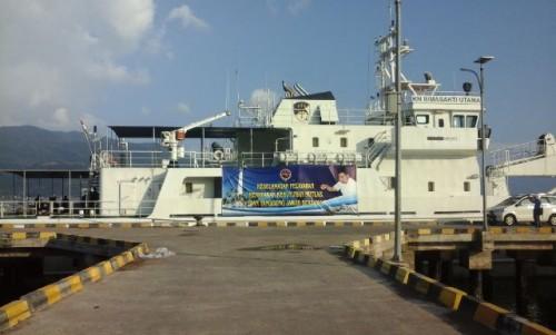Enam Kapal Kementrian Perhubungan Ikut Amankan Prosesi Laut