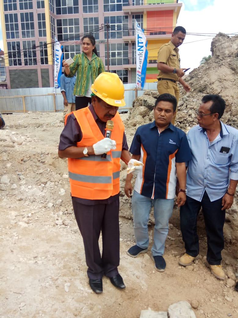 Acara peletakan batu pertama Kantor Bank NTT Cabang Rote Ndao. (Ist)