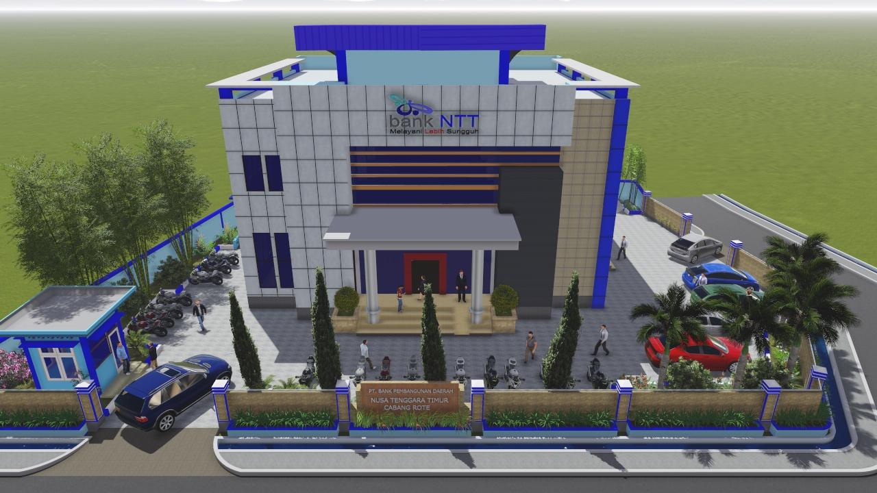 Desain kantor cabang Bank NTT Rote Ndao. (Ist)