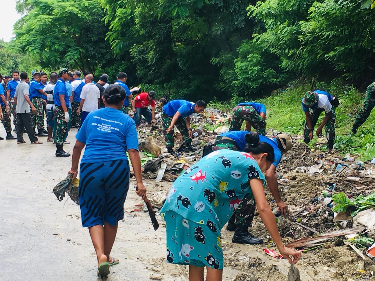 Lantamal VII Kupang Ikut Wujudkan Kebersihan Kota