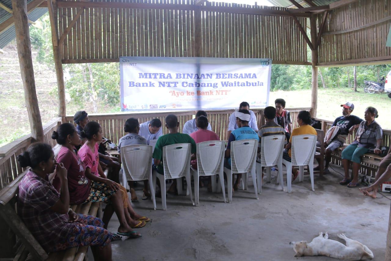 Proses administrasi untuk kredit di kokasi petani (foto: Ardy Ndapa/Bank NTT)