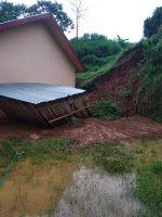 Longsor Nyaris Hantam Gedung SMP Negeri 5 Ndoso Manggarai Barat