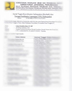 Surat Tugas untuk Tenaga Fasilitator Lapangan Kemenpera di NTT Dibatalkan