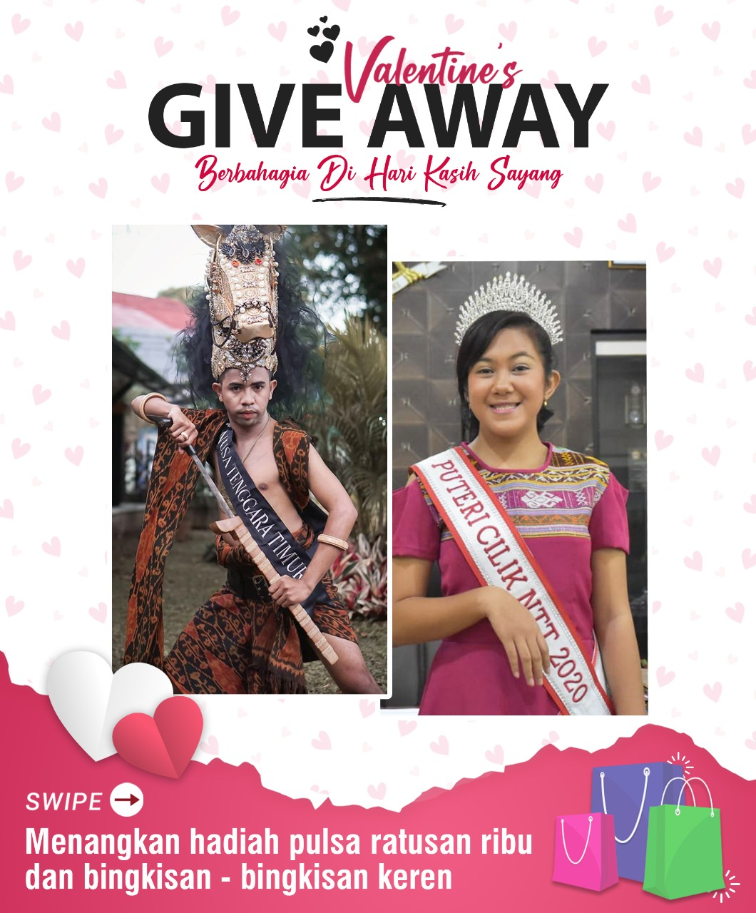 Yuk, Rayakan 'Valentine Day' Bersama Putri Cilik dan Putra Tari Indonesia Asal NTT