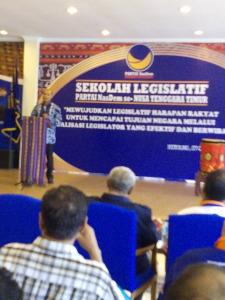 Legislator NasDem Harus Bermoral dan Berintegritas
