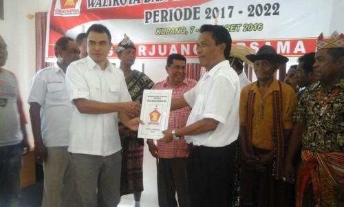Mendaftar di Gerindra, Hengky Benu Klaim Didukung Semua Etnis