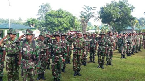 Jaga Kedaulatan NKRI, Prajurit Kodim 1618 TTU Rutin Apel Minggu Militer