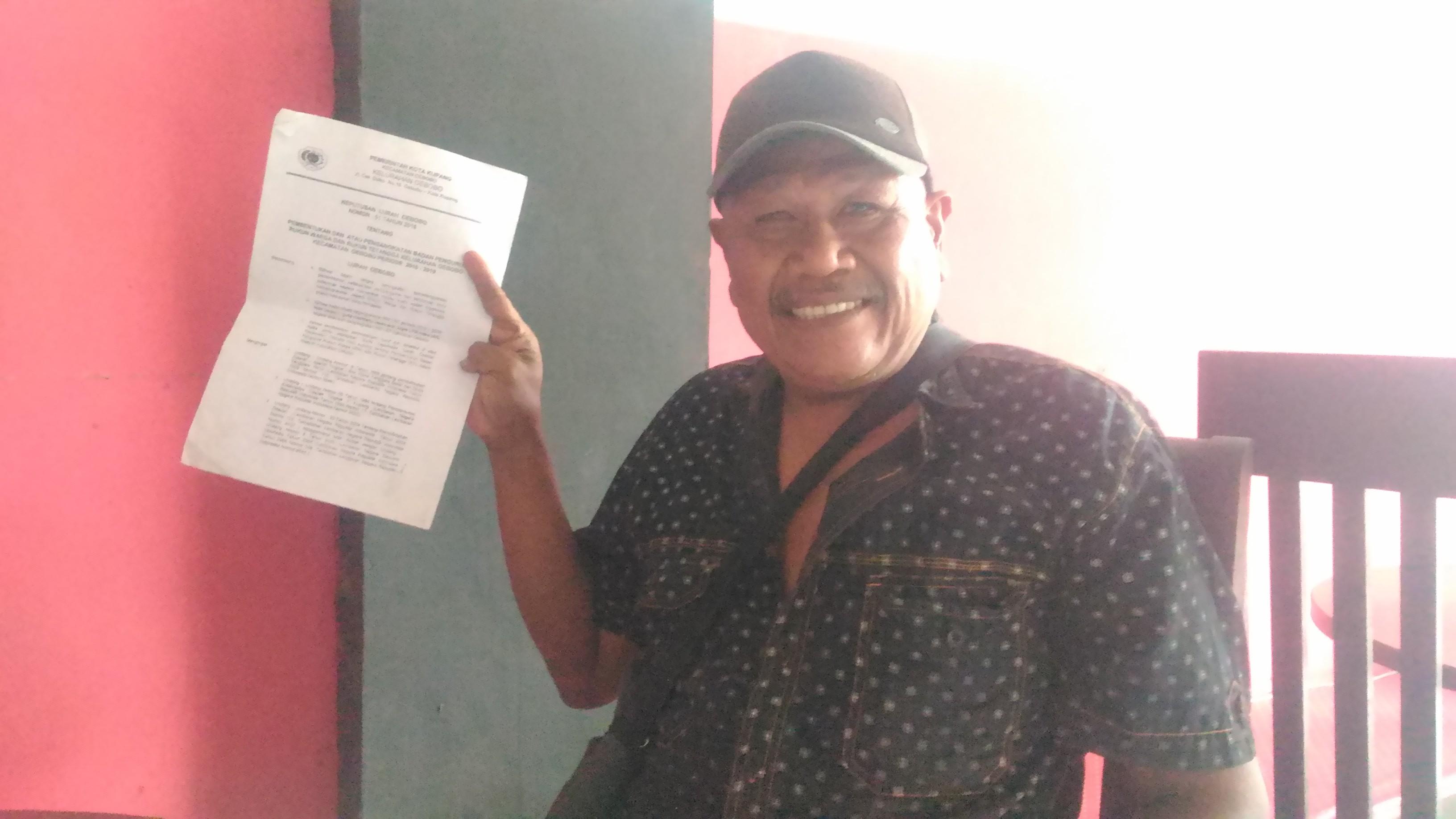 Yakob Mbau Pertanyakan SK Pengangkatan Ketua RT Oleh Lurah Oebobo