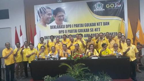 Golkar NTT Deklarasi Dukung Jokowi-Airlangga di Pilpres 2019