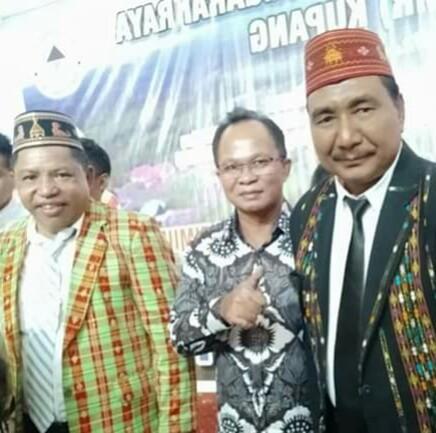 Awang Notoprawiro saat menghadiri syukuran pelantikan Agas Andreas dan Jaghur Stefanus, Kamis (14/2/2019) petang. (Ist)