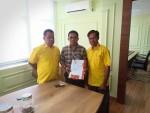 Wandelinus Taolin Resmi Mendaftar sebagai Cawabup Malaka di Partai Golkar