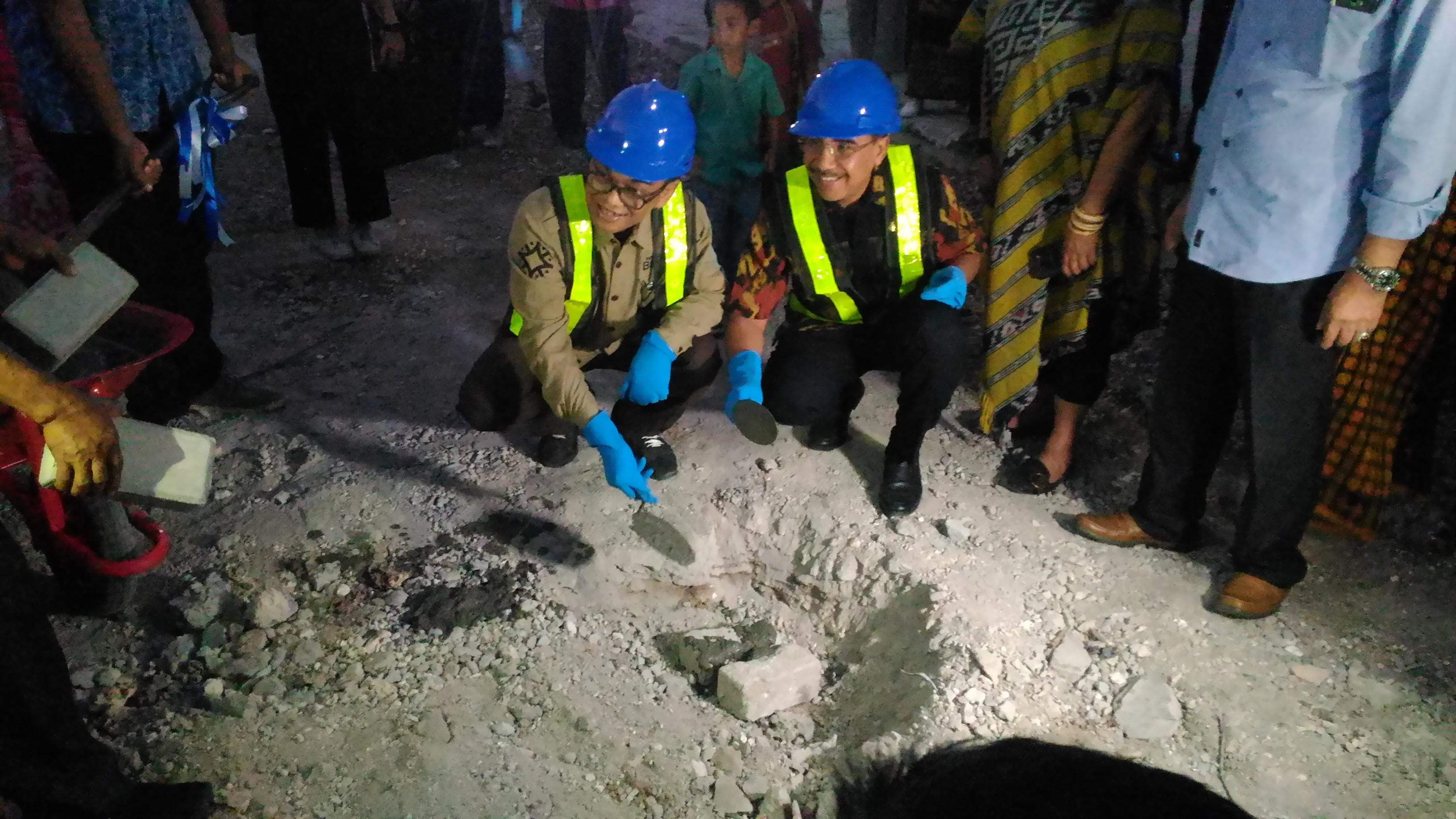 Peletakan batu pertama, gedung misbar, bioskop misbar, kota kupang, NTT, Nusa Tenggara Timur, Kota Kupang, Pemkot Kupang. (Ist)