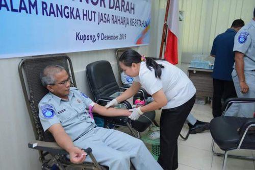 PT Jasa Raharja NTT Kumpulkan 82 Kantong Darah