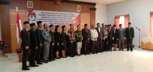 Pejabat Administrator dan Pengawas KPUD Tujuh Kabupaten Dilantik