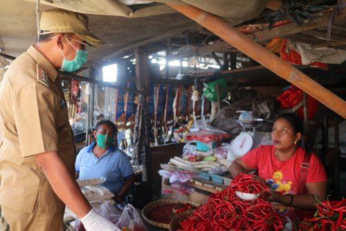 Sidak Wali Kota Kupang di Pasar Naikoten, Harga Sejumlah Kebutuhan Pokok Naik