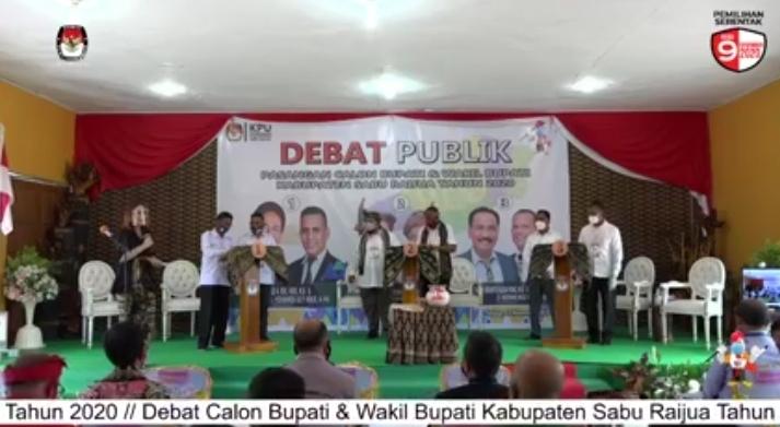 Debat Pilkada Sabu Raijua, Ie Rai dan Petahana Saling Serang Soal Dana Covid-19
